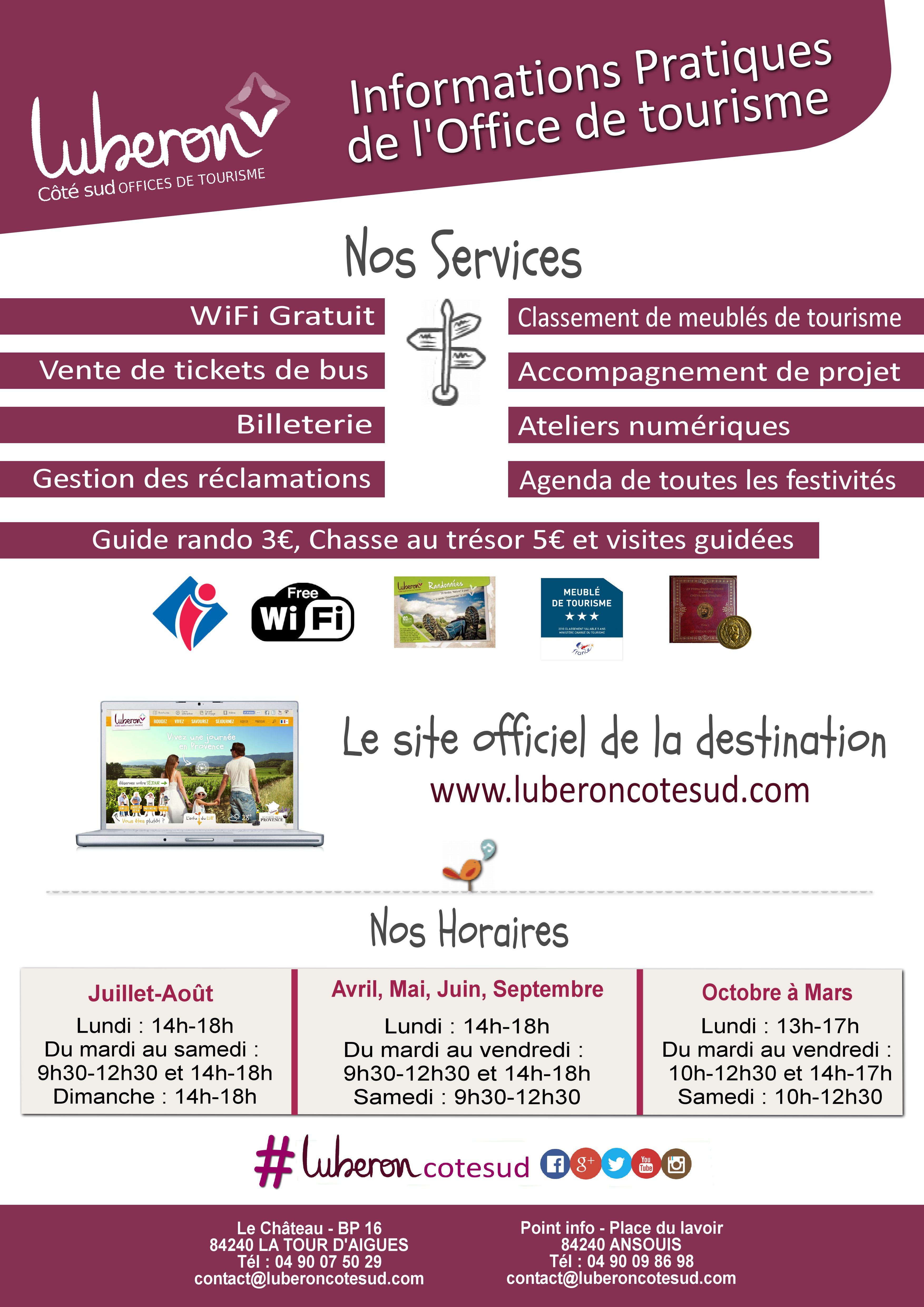Office de tourisme de la tour d 39 aigues mairie de la tour d 39 aigues - Office de tourisme plan de la tour ...